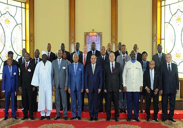 السيسي يبحث إعلاء قيم العدالة مع رؤساء المحاكم الدستورية العليا الأفريقية