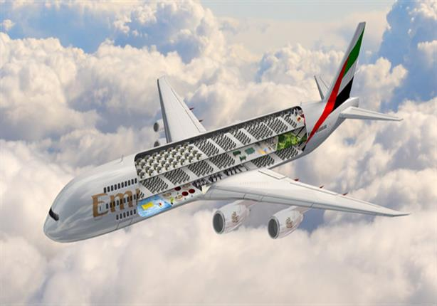 طيران الإمارات تعلن عن طائرة جديدة بها