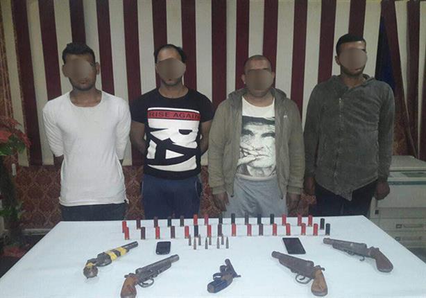 ضبط 4 متهمين بممارسة البلطجة في الخانكة بالقليوبية