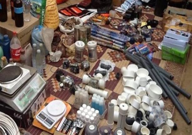 العثور على وكر لإعداد القنابل البدائية بإحدى الشقق بمدينة السادات