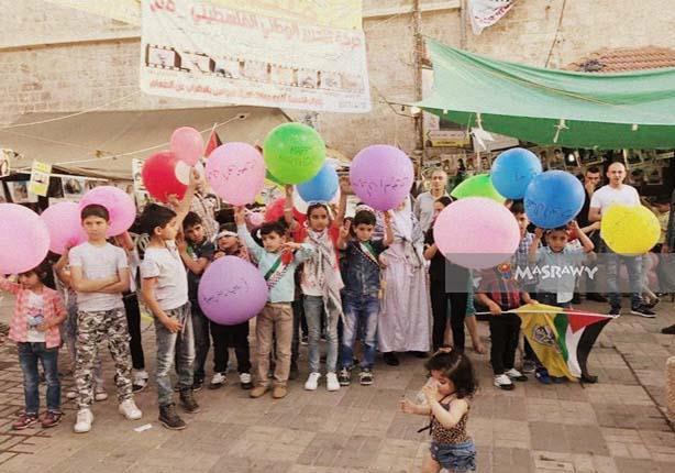 بالصور والفيديو- في فلسطين.. إضراب الكرامة له أطفال تحييه