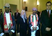 وفد جامعة المنصورة يشارك سفارة عُمان احتفالها بعيد السلطنة الوطني
