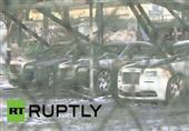 فيديو - صور .. مذبحة للسيارات الفارهة فى موسكو