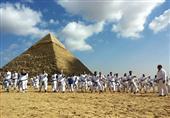 بالصور.. احتفالية الكاراتيه التقليدي ببطولة العالم تحت سفح الأهرامات