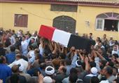 أهالي الباجور يشيعون جثمان قتيل الجيش في أحداث جسر السويس