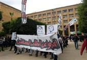 بالصور..مظاهرات هندسة وزراعة الإسكندرية مستمرة برغم هطول الأمطار