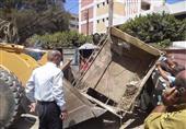 بالصور..حملة إزالة مفاجئة لإشغالات الطريق بشوارع بني سويف
