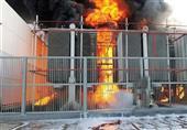 مجهولون يشعلون النيران في محول كهرباء بمنية النصر