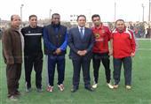 بيبو وشادي محمد في مباراة استعراضية لافتتاح دورة رياضية