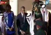 الملك سلمان بن عبدالعزيز يُوقف مراسم استقبال الرئيس الأمريكي