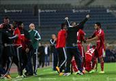فرحة لاعبي الأهلي بهدف وليد سليمان في مرمى الزمالك