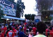 جماهير الأهلي أمام مقر النادي للمطالبة برحيل طاهر