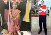 بالفيديو والصور: أقصر امرأة وأطول رجل بالعالم