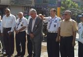 منوف تحتفل بذكرى نصر اكتوبر بوضع الورد على النصب التذكاري