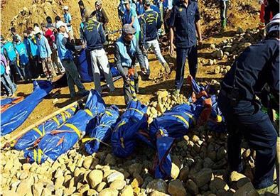 ارتفاع حصيلة قتلى انهيار أرضي في ميانمار إلى 115 شخصًا