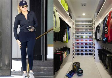 كلوي كاردشيان تخصص خزانة لملابس الرياضة..جنون أم لا؟