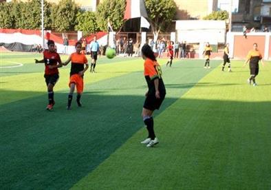 وفاة لاعبة كرة قدم نسائية داخل الملعب بنادى صيد المحلة