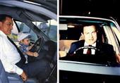 فيديو نادر لمبارك يقود سيارته ومعه أمير الكويت
