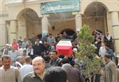 بالصور- جنازة شعبية لخفير شرطة ضحية الهجوم علي نقطة مبارك