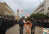 تشييع جنازة خفير نقطة شرطة مبارك بالفيوم بعد مقتله صباح اليوم