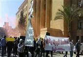 بالصور..مسيرة بالأقنعة والشماريخ بهندسة الإسكندرية للتنديد بإعدام