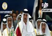 عُطل فني يقطع كلمة أمير قطر بالقمة العربية