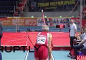 """مسابقة القفز بالزانة للفئات العمرية فوق الـ 75 عاما ضمن فعاليات بطولة أوروبا لألعاب القوى """"الماسترز"""""""