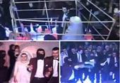 على طريقة داعش عروسان يحييان حفلهما داخل قفص حديدي