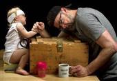 لحظات طريفة بين الأب وبناته في صور