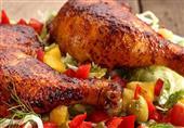 طبق اليوم - دجاج مشوي مع الثومية من مطبخ منال العالم