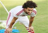 خالد قمر يسخر من باسم مرسي اثناء خروجه من أرض الملعب