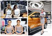 بالصور.. عارضات معرض شنغهاي الدولي للسيارات