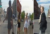 فيديو .. حينما تعبر حسناوات روسيا الطريق