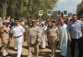 بالصور- جنازة عسكرية وشعبية لأمين شرطة الآثار ضحية متحف الشمع
