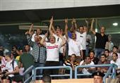 جماهير الزمالك تحتفل بالدوري في مباراة طلائع الجيش
