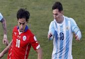 الشوط الثاني من نهائي كوبا أمريكا بين تشيلي والأرجنتين