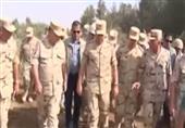 """رئيس الأركان"""" يشهد الأنشطة التدريبية لقوات التدخل السريع بسيناء"""