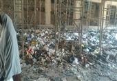 بالصور- القمامة تعطل المرور أسفل الدائري.. وأهالي: