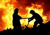 إخماد حريق هائل في بنك ناصر بالمنيا