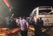 ارتفاع ضحايا انقلاب حافلة ركاب ببني سويف إلى 6 قتلى و34 مصابا