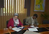 بالصور - توقيع اتفاق تعاون بين جامعة المنصورة وشندي السودانية