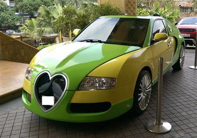 بالصور.. رجل يدَّعي النبوه يمتلك أقبح سيارة بوجاتي في العالم