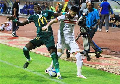 مباراة الزمالك والمصري بالدوري العام