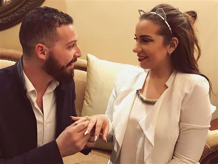 """بالصور- شريف منير يحتفل بـ""""خطوبة"""" ابنته أسما على محمود حجازي"""