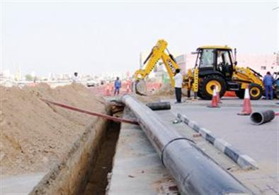 توصيل خط مياه جديد لقرية أبو الغيط بالقناطر الخيرية