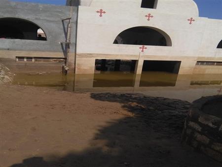الكنيسة الأرثوذكسية: دير الأمير تادرس بمنفلوط تعرض لأضرار بالغة بسبب السيول