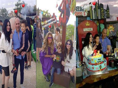 بالصور.. نسرين إمام وتامر مرسي يحتفلان بعيد ميلاد نجلهما