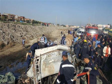 بالأسماء- التعرف على هوية 8 جثث متفحمة في حادث أتوبيس الإسكندرية