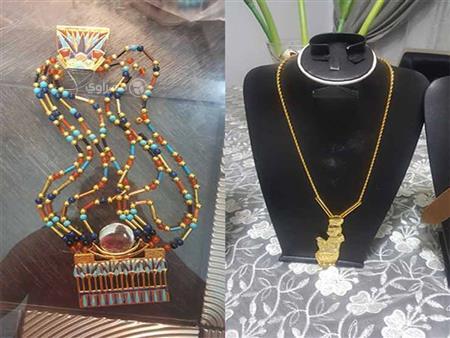 """""""الحلي الفرعونية"""".. رسالة """"ياسمين"""" لدعم السياحة في مصر"""