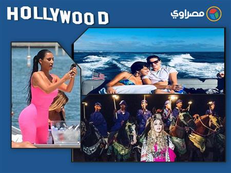 """نشرة هوليوود  مادونا في الصحراء وجيجي حديد مع """"اللاجئين"""" وليدي جاجا بالأبيض والأسود"""
